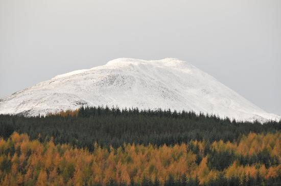 The Lochearnhead Hotel: snow & autumn colours by pete davies wales