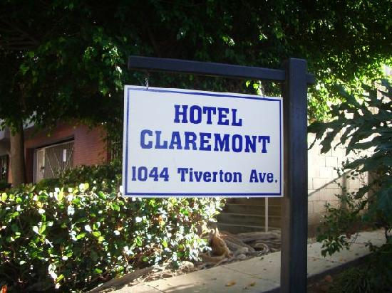 The Claremont Hotel Westwood: Cartel del hotel