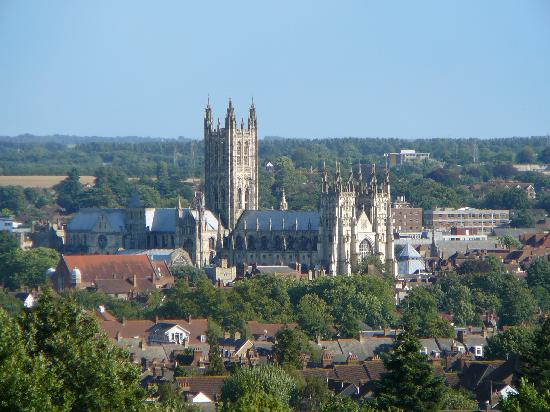 Kent, UK : Canterbury Cathedral - view from the university