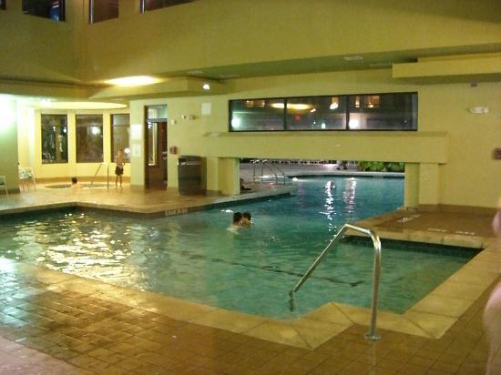 Courtyard Orlando Lake Buena Vista in the Marriott Village : Ein Teil des Pool liegt im Gebäude