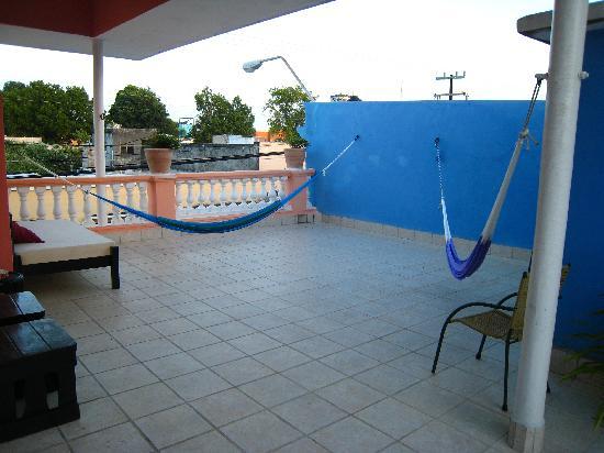 Hotel Julamis: Hammock on the rooftop