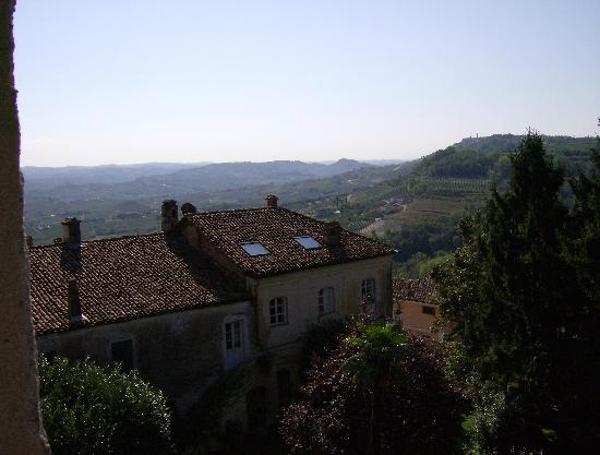 Verduno, Italia: Viev of the Barolo area from the castle