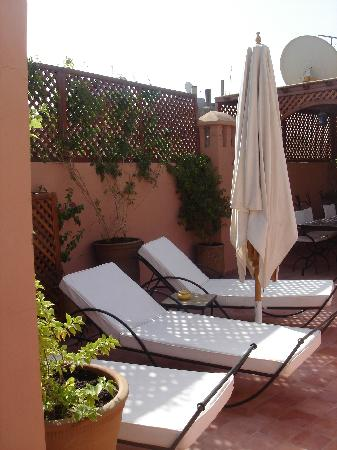 Riad Petit Karmela: terraza