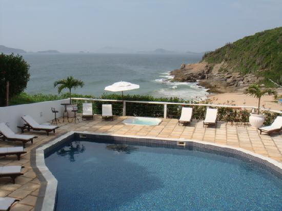 Apa Pau Brasil Hotel : The view from the restaurant