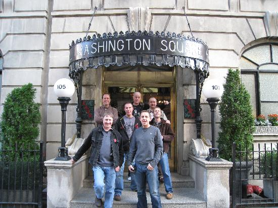 Outside Washington Square Hotel