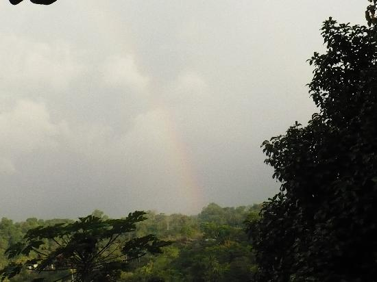 Jinetes de Osa Hotel: Rainbow seen from the lodge