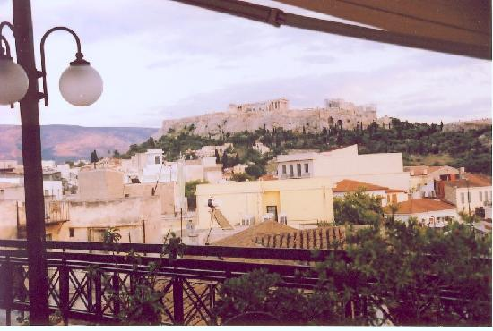 King Jason Hotel: Acropolis from hotel rooftop restaurant