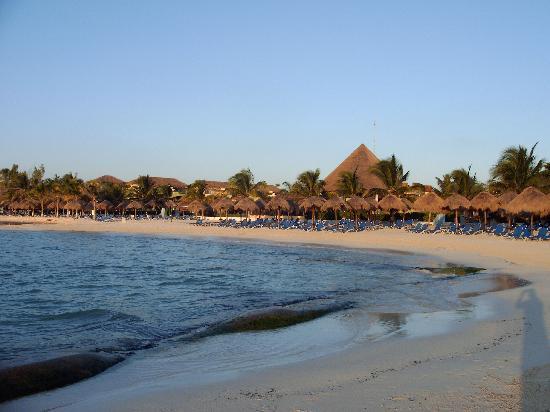 Sandos Caracol Eco Resort: plage à l'aube