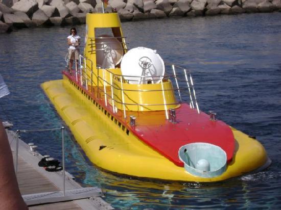 Submarine Safaris : External view of submarine