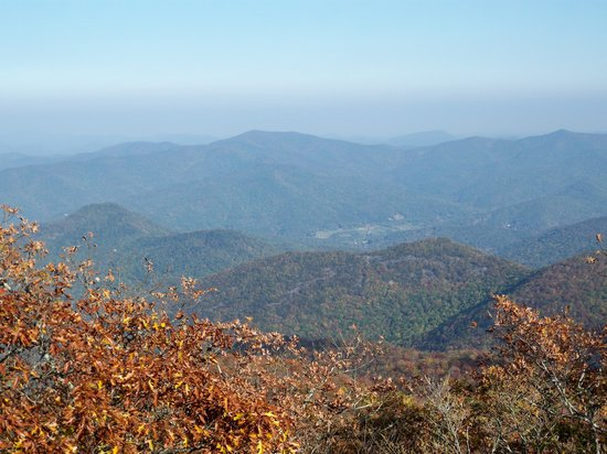 Blairsville, GA: up from the end of hiking trail