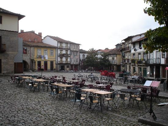 Guimarães, Portugal: Medieval quarter--plenty of good seats available