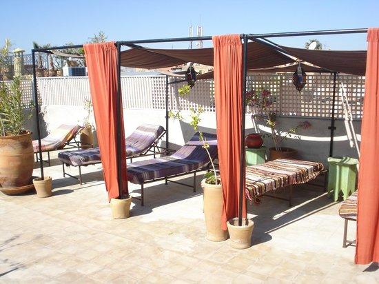Le Rihani : repos sur la terrasse