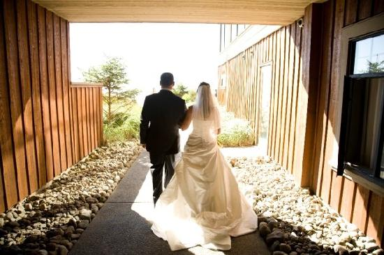 Long Beach Lodge Resort: about to walk down the aisle