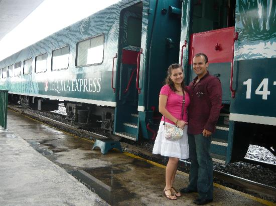 Tequila Express: at the train station