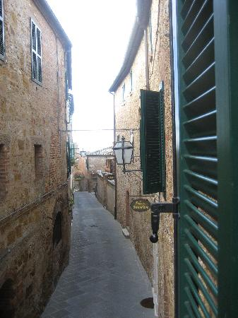 The Small (and only) Petroio street leading to Palazzo Brandano