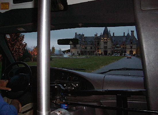 The Inn on Biltmore Estate: The mansion as we drove to up.
