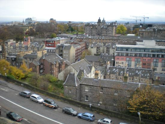 Apex City of Edinburgh Hotel: View of hotel from castle