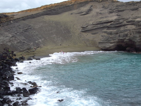 Pahoa, HI: Green Sand beach
