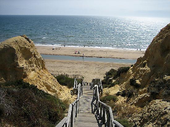 Mazagón, España: Bajada a la playa
