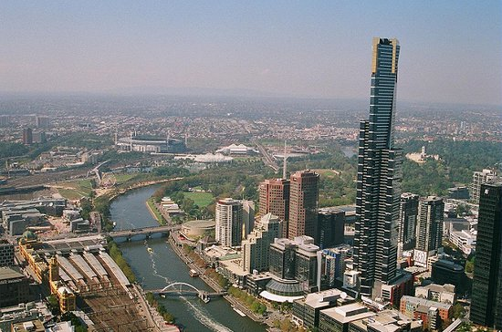 Melbourne, Australien: Southern Skyline from Rialto Tower