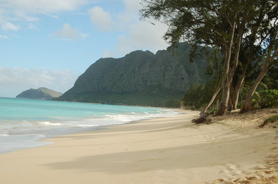 Вайманало, Гавайи: Waimanalo Beach looking south-east