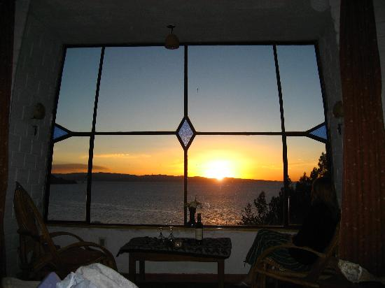 Las Olas: view of sunset from armchair
