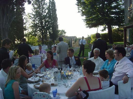 Agriturismo Fonte de' Medici: wedding meal 2