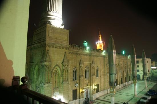 El Hussein Hotel: Room View - Facing El Hussein Mosque