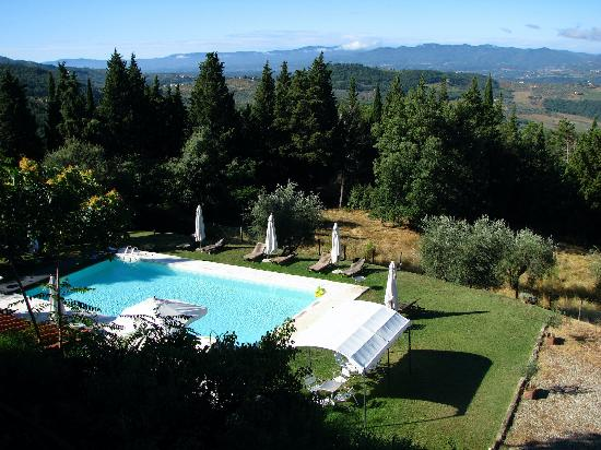 Podere Castellare - Eco Resort of Tuscany: Pool from above