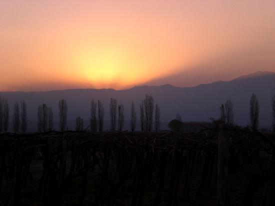 Cavas Wine Lodge: Sunset from our casita