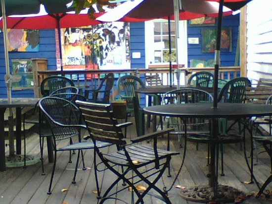 Outdoor Seating at the Flat Rock Village Bakery