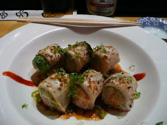 Sushi Bistro: Snow crab meat and avocado wrapped in butterfish torched with garlic-soy