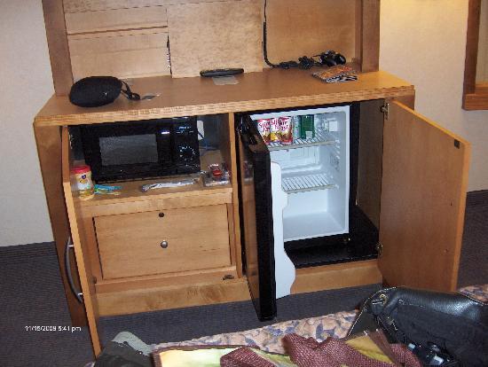 Mini Fridge Microwave Underneath Tv In Cabinet Picture