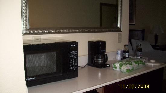 Holiday Inn Express Hotel & Suites Clearwater / US 19N: there was a microwave and frig in room