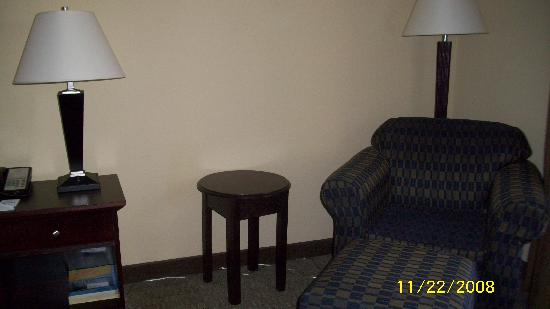 Holiday Inn Express Hotel & Suites Clearwater / US 19N : chair and table
