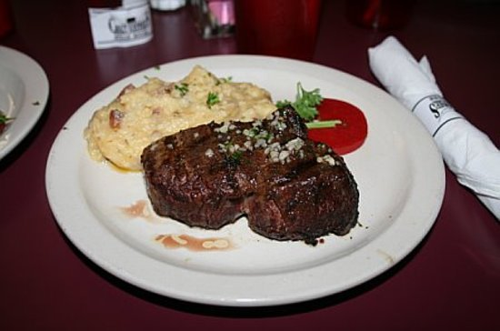 Crazy Johnnie's Steak House: Filet Mignon special! YUM!!!