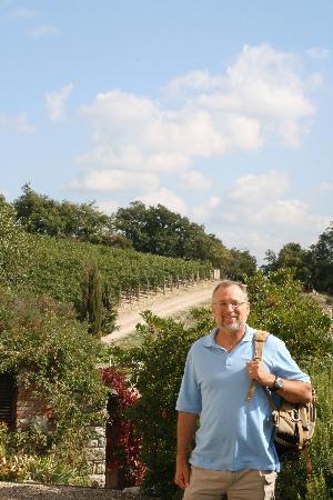 Collelungo: Walking Through Vineyard