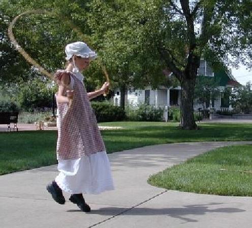 Centennial Village Museum : Lone Valley School student at recess