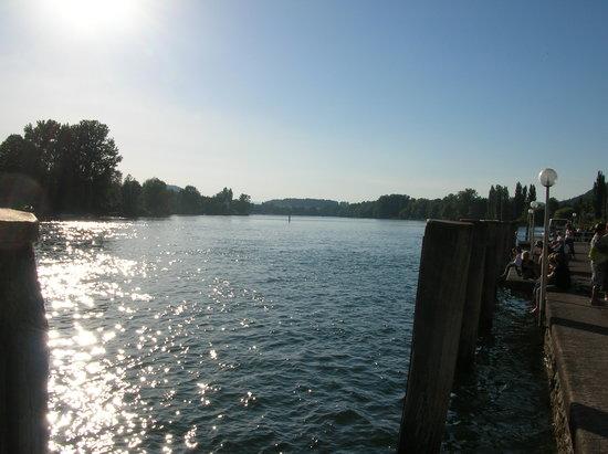 Stein am Rhein, Suiza: wunderbare Aussicht auf Rhein