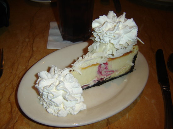 The Cheesecake Factory: White Chocolate Raspberry Cheesecake