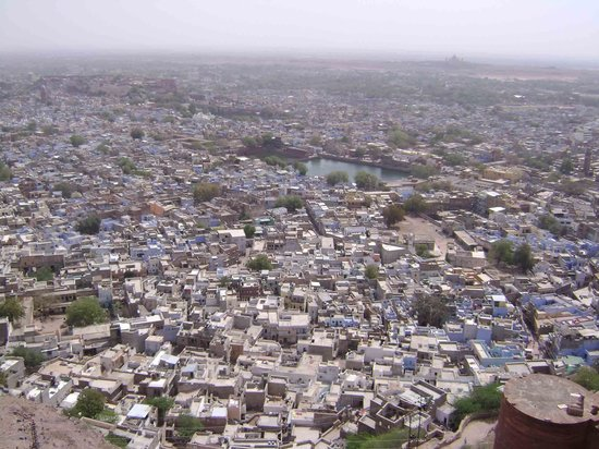 Jodhpur, Indien: A view of the old city as seen from Mehrangarh fort..