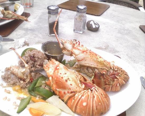 SuperClubs Rooms on the Beach Negril: LOBSTER AT KUYABA..YES!!!!!