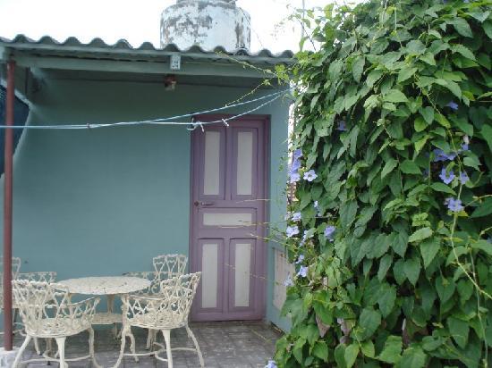 Casa Daniel Perez Carcases : Terrasse, Eingang zum Zimmer