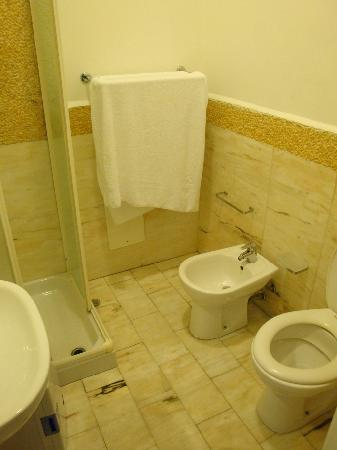 Caracciolo 10 Bed and Breakfast : Marble floor in the bathroom with bidet