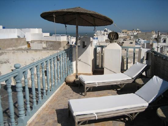 Riad Baladin : upper roof terrace