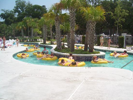 Pirateland Oceanfront Campground: Just a small piece of the lazy river...