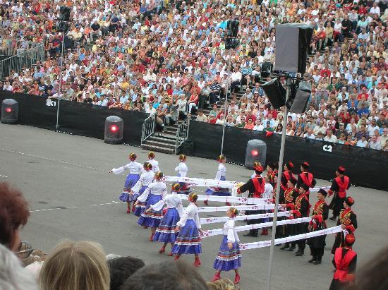 Bazel, Zwitserland: Russische Tänzer