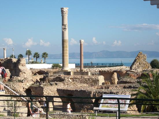 Ruines de Carthage : Antonine Baths, Ancient Carthage,Tunisia - November 2008