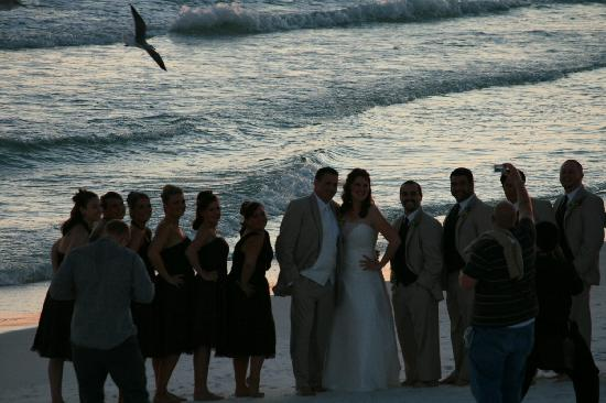 Henderson Park Inn Wedding Photos On The Beach Outside Of