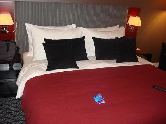 Radisson Blu Hotel, Zurich Airport: The comfiest bed, ever!  Beats my bed any day!